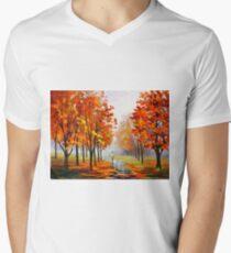 PINK FOG - Leonid Afremov Men's V-Neck T-Shirt