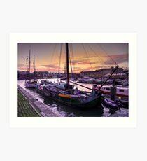 Bristol Harbour Sunset  Art Print