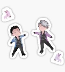 Yuuri/Viktor Ice Skating Sticker