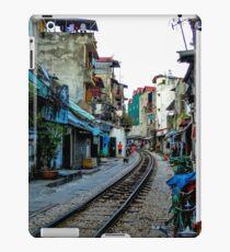 Railway tracks through Hanoi, Vietnam iPad Case/Skin