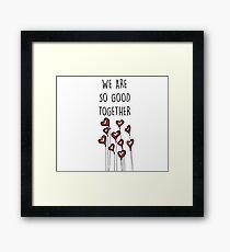 Heart balloons for valentines Framed Print