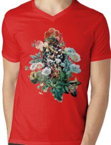 Bird in Flowers Mens V-Neck T-Shirt