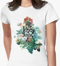 Bird in Flowers Womens Fitted T-Shirt