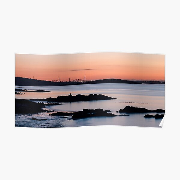 Crammond Shore and the Forth Bridges Poster
