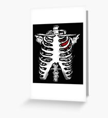 Rib Cage with Heart - Digital Art Greeting Card