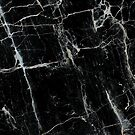 Pure Black Marble by Annelise Dominello