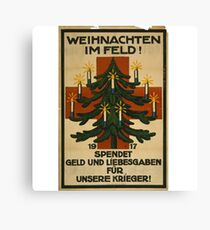 German WWI Christmas Poster Canvas Print