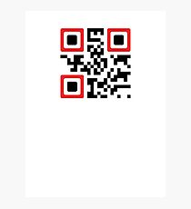 QR Code - Never Give Up Photographic Print