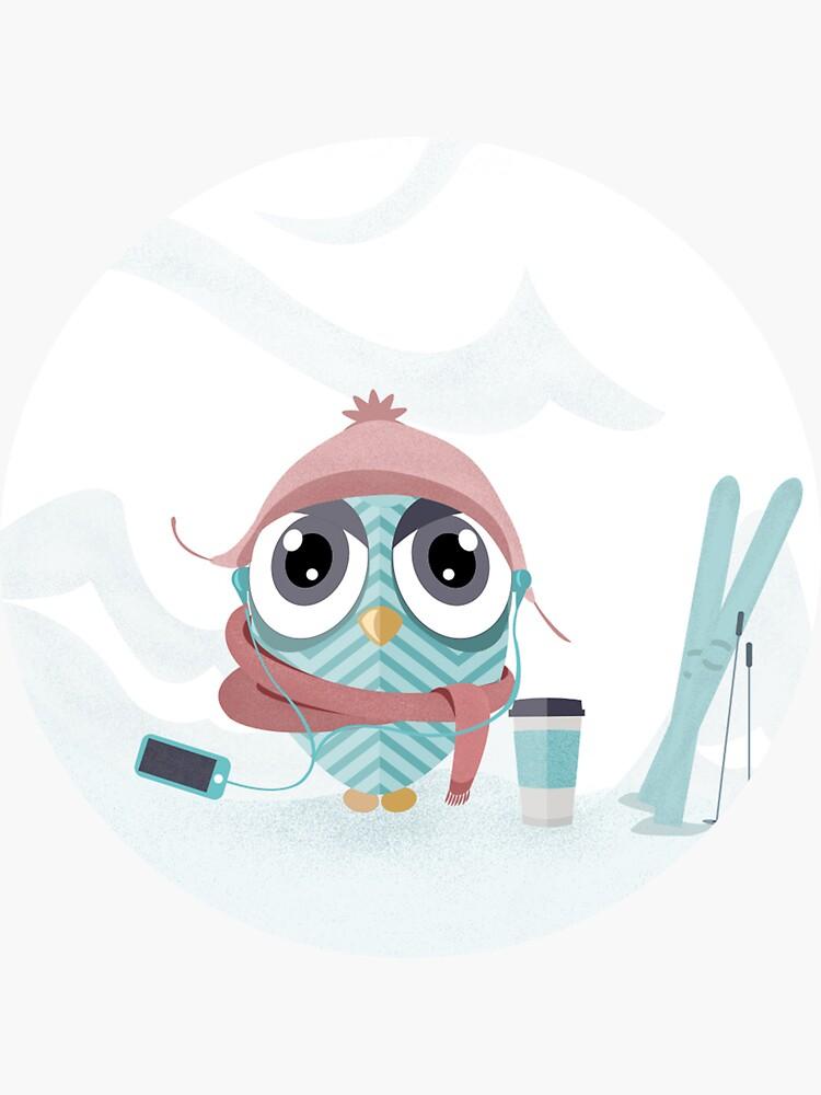 Owl gone skiing by mirunasfia