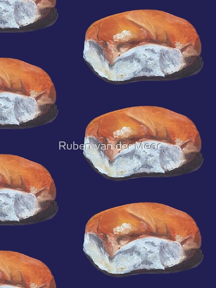 Handpainted bread roll by RubenMeer