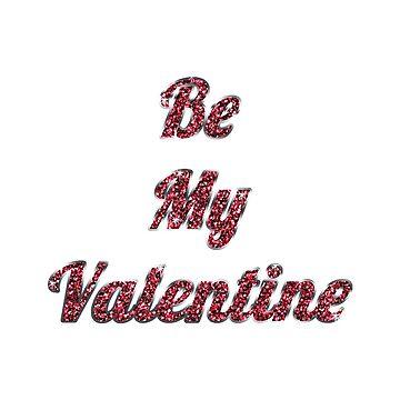 Valentine's Card: Red Glitter by MADEBYCATHERINE