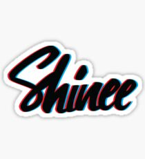 Shinee Brush Script Sticker