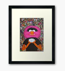 Self Portrait As Muppet Framed Print