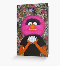 Self Portrait As Muppet Greeting Card