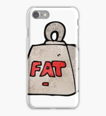 cartoon weight with fat text iPhone Case/Skin