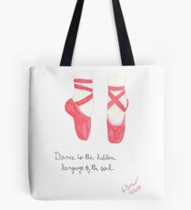 Red pointe shoes Tote Bag