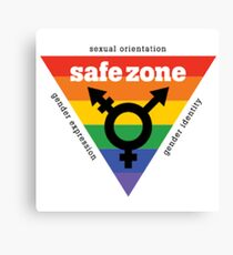 LGBT+ Safe Zone Equality Canvas Print