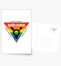 LGBT + Safe Zone Equality Postkarten