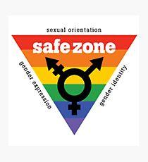 Lámina fotográfica LGBT + Safe Zone Equality
