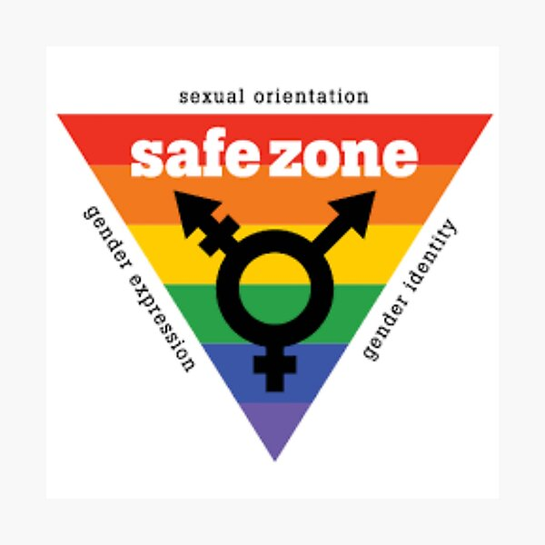LGBT+ Safe Zone Equality Photographic Print