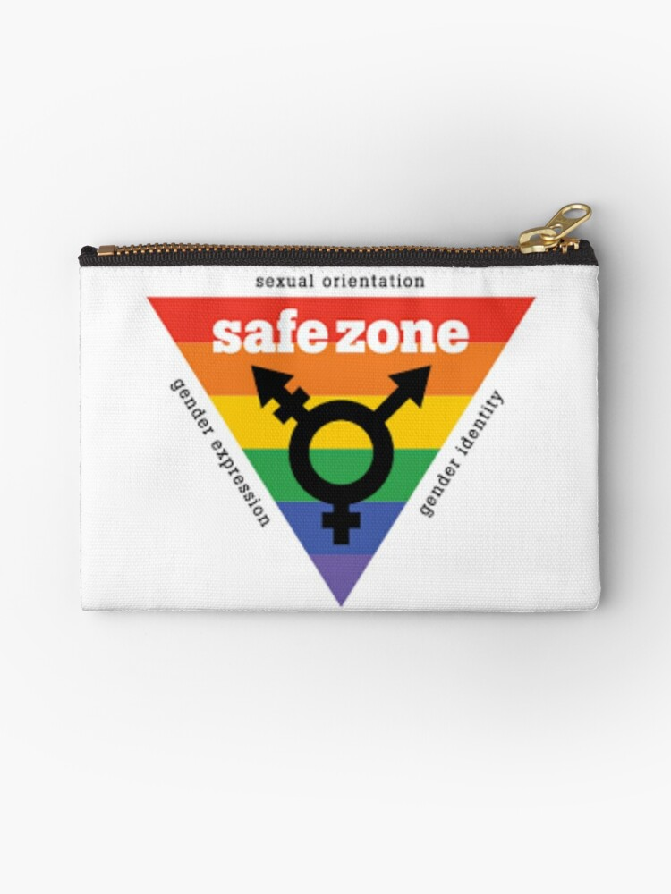 Lgbt Safe Zone Equality Studio Pouches By Safetypins Redbubble