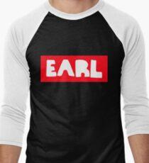 Earl Sweatshirt White on Red Men's Baseball ¾ T-Shirt