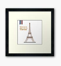 Paris Travel. Famous Place - Eiffel Tower. Welcome to Paris. Framed Print