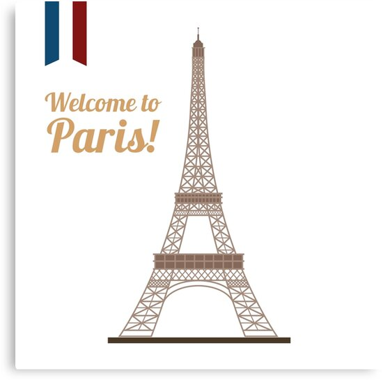 Paris Travel. Famous Place - Eiffel Tower. Welcome to Paris. by ivector