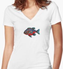 From The Deep Blue Water Women's Fitted V-Neck T-Shirt