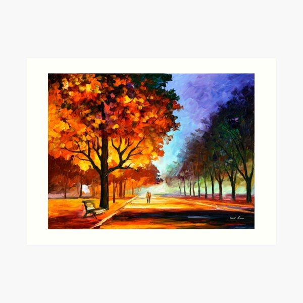 FLAMING NIGHT - Leonid Afremov Art Print