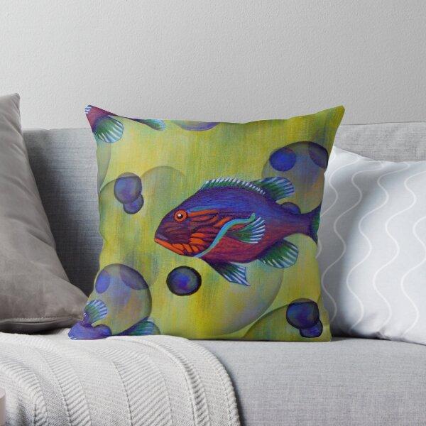 Wild Warmouth Fishy  Throw Pillow