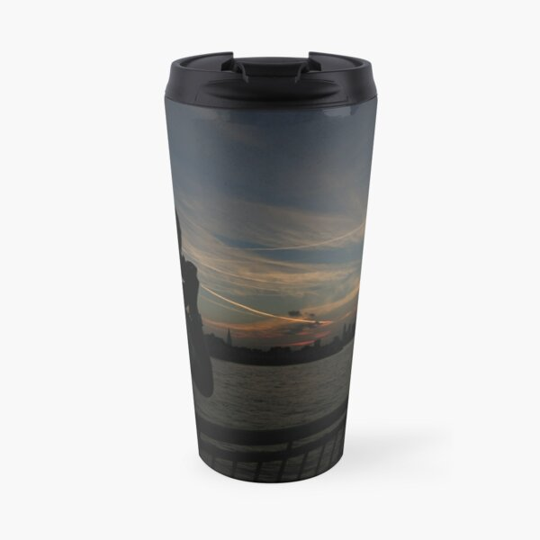 London Skyline near Canary Wharf Travel Mug
