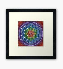 Rainbow Flower of Life Framed Print