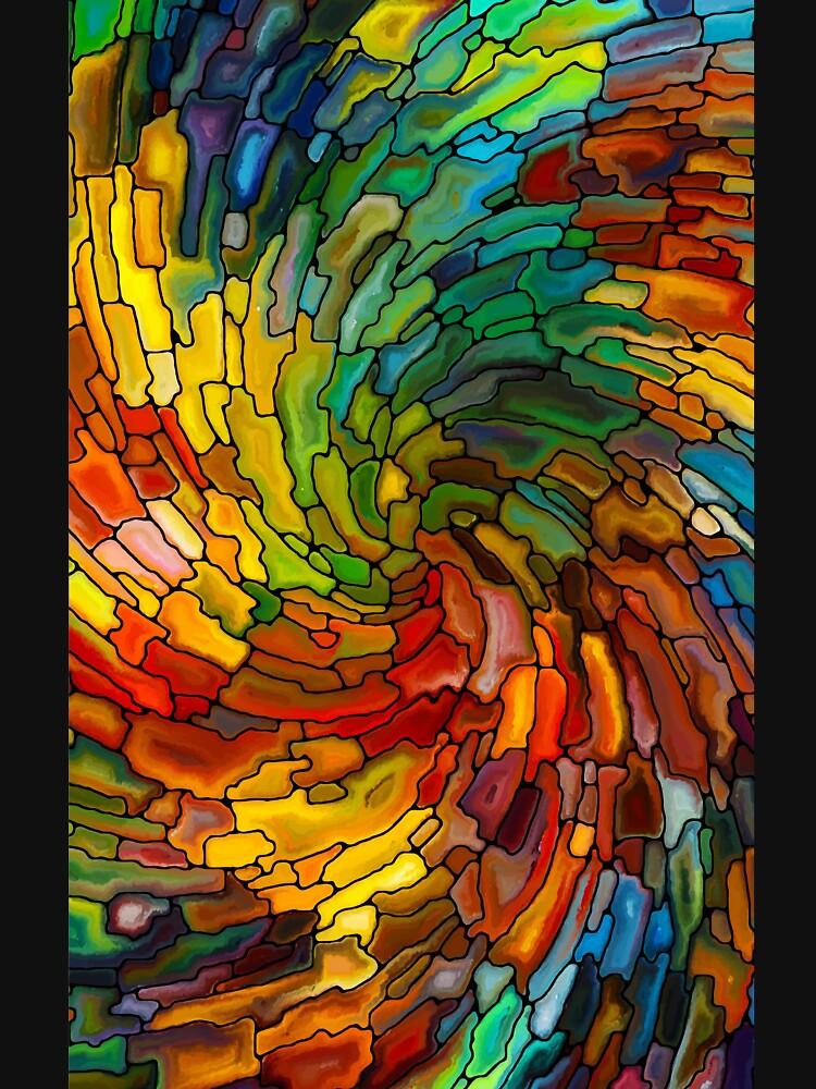 GLASE manchado colorido de thazinmabi