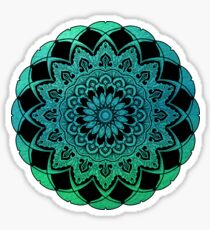 Turquoise Watercolor Mandala Sticker