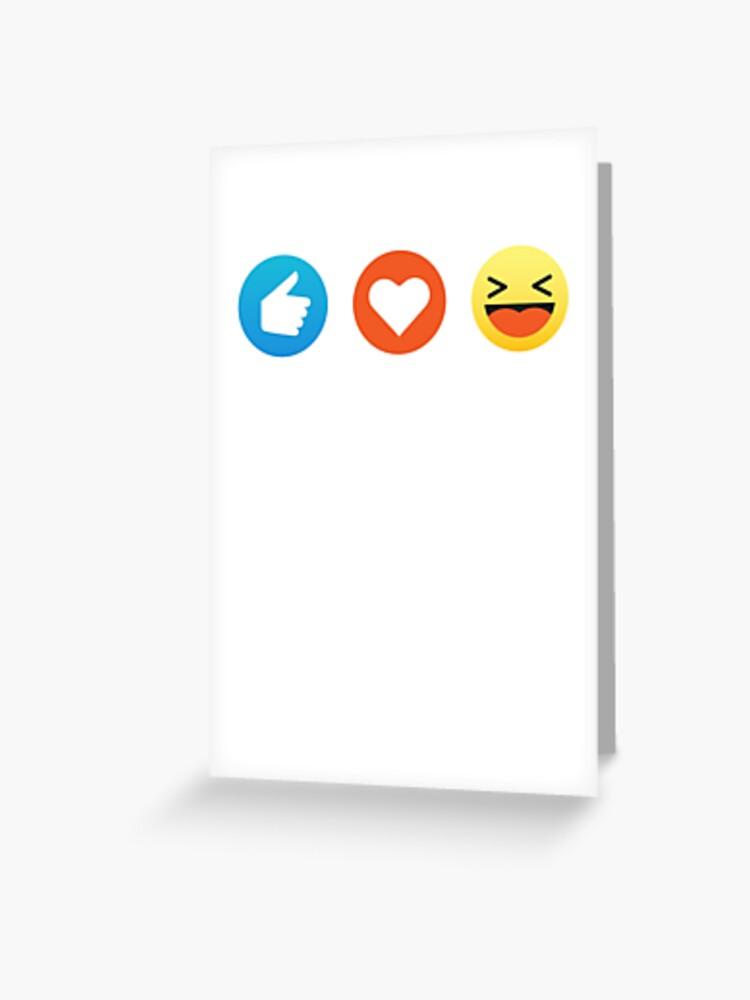 Carte De Vœux J Aime La Musique Emoji Emoticon Tee Shirt Graphique Drole Par Desindie Redbubble
