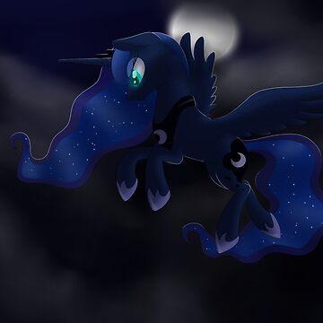 My little Pony: Friendship is Magic - Princess Luna - Night Flight by FalakTheWolf