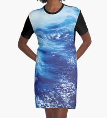 Gorgeous Water Graphic T-Shirt Dress