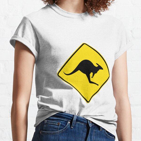 Australian Kangaroo Roadsign Classic T-Shirt