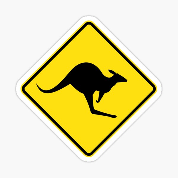 Decal Sticker Car Sign Caution Australia Road Sign Surfer
