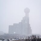 Reunion Tower in the Snow by josephhaubert