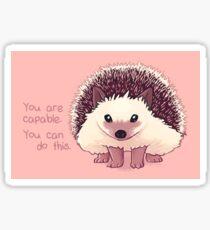 """You Are Capable"" Hedgehog Sticker"