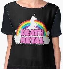 Unicorn Rainbow Death Metal Chiffon Top