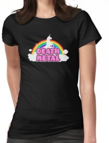 Unicorn Rainbow Death Metal Womens Fitted T-Shirt