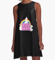 Unicorn Rainbow Death Metal A-Line Dress