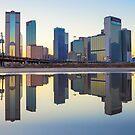 Deep Ellum Dallas Puddle Reflection by josephhaubert