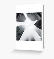 The City in Black & White Greeting Card