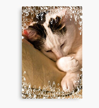 Almost Asleep With Lace Canvas Print