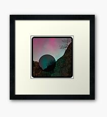 The Light is Falling Through the Day - Psych Art Framed Print