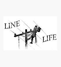 Line Life - Lineman Photographic Print